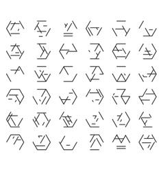 Alien black alphabet vector