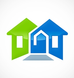 Home resident construction logo vector