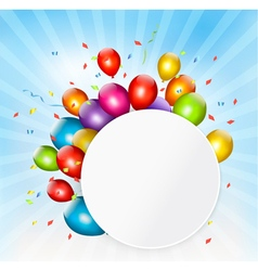 Colorful holiday background with balloons vector image