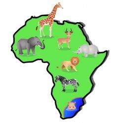 Animal africa vector