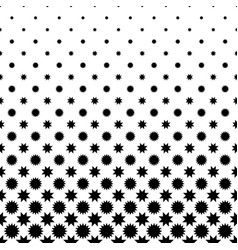 Black and white star pattern - geometrical vector