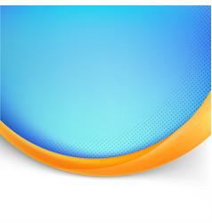 blue folder design with orange wave vector image