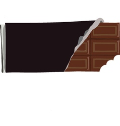 Chocolate bar with a bite missing vector image vector image