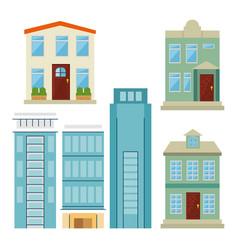 City elements set vector