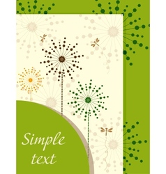 Ecological booklet with dandelions vector image