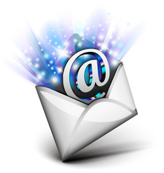 Email radiating vector image vector image
