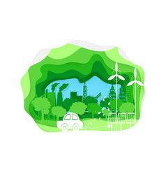 environmentally vector image