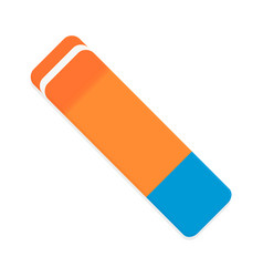 eraser isolated vector image