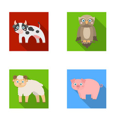 forest ecology toys and other web icon in flat vector image vector image