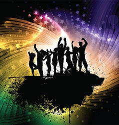 Grunge party people background vector