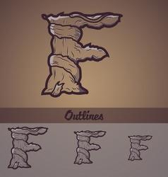 Halloween decorative alphabet - F letter vector image