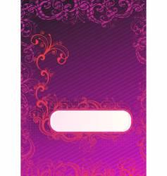 illustration of purple wallpaper vector image
