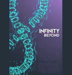 infinity symbol wireframe mesh vector image vector image