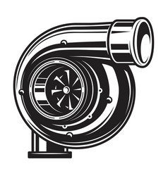 isolated monochrome of car turbo vector image