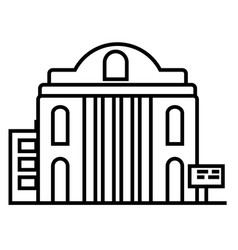 museum line icon sign on vector image