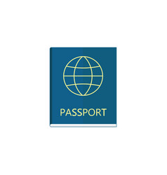 Passport flat icon travel tourism citizen and id vector