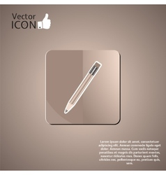 Pencil button on the background vector