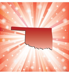 Red Oklahoma vector image