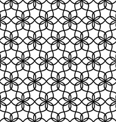 Repeating black and white wave line pattern vector image