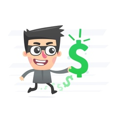 Robber with stolen money vector