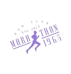 Run club purple label design vector