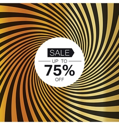 Sale card template on golden rays background vector