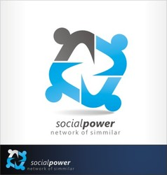 social power2 vector image