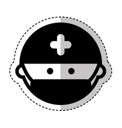 surgeon avatar isolated icon vector image