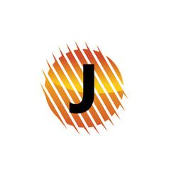Technology letter j vector