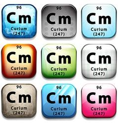 The chemical element curium vector