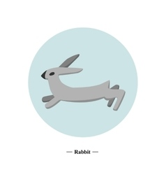 The symbol of the hare in style flat vector