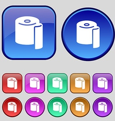 toilet paper icon sign A set of twelve vintage vector image