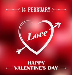 Valentines poster with red background vector image vector image