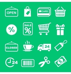Web icon set Shopping pictogram vector image vector image