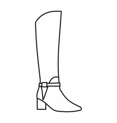 Women high boots icon outline style vector
