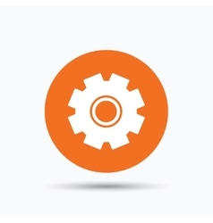 Cogwheel icon repair service sign vector