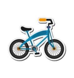 Single blue bike icon vector
