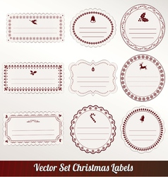 Christmas frame set design vector