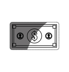 Billet money isolated vector