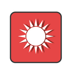 Summer sun emblem isolated icon vector
