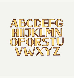 Retro typeface font alphabet type uppercase vector