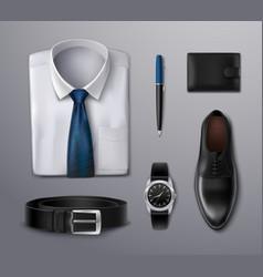 Businessman apparel accessories vector