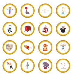 circus show icon circle vector image