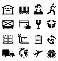 Shipping delivery distribution and warehouse web vector