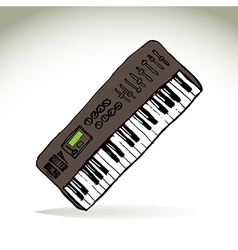 Music keyboard vector
