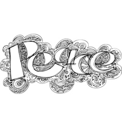 Peace sketched doodles vector