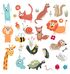cute animal character clipart vector image