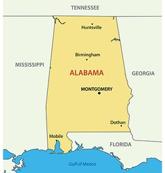 Alabama - map vector