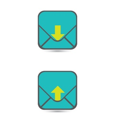 Download And Upload Icons 43 vector image