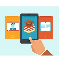 e-learning app vector image